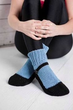 Knit Slipper Sock Adult Mary Jane Slippers Sox Blue House Slippers Womens Slippers Home Slippers Black House Shoes Home Shoes