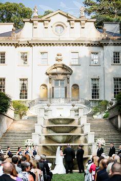 Wedding Ceremony at the Atlanta History Centers Swan House