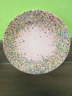 Dessertteller mit Punkten