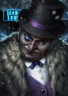 This is my take on the character known by Penguin from the Batman's series. Comic Book Villains, Gotham Villains, Dc Comics Characters, Dc Comics Art, Comic Books Art, Comic Art, Disney Villains, The Penguin Batman, Penguin Art