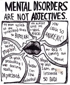 mental disorders aren't adjectives