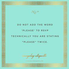 Everyday Etiquette No. 14 | www.emilymccarthy.com