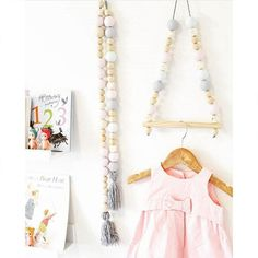 Nordic Style Wooden Clothes Kids Room