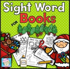 Sight Word Books for Christmas (Paste, Trace, and Write) from TeacherTam on TeachersNotebook.com -  (30 pages)  - This set of sight word books has students paste, trace, and write each word. It has 3 different books.  The following sight words are covered: where, there, what, did, came, and help. $