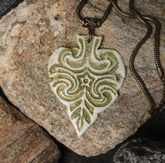 Ace of Spades Pendant - big pendant necklace made from high fired real…