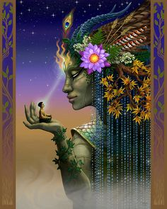 Third Eye, Goddess Art, Goddess Of Nature, Esoteric Art, Mystique, Witch Art, Dope Art, Visionary Art, Angel Art