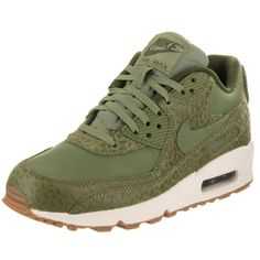 Nike Women's Air Max 90 Prem Running Shoe (1.622.005 IDR) ❤ liked on Polyvore featuring shoes, athletic shoes, green, nike footwear, green running shoes, athletic running shoes, nike athletic shoes and green shoes