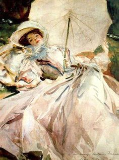 John Singer Sargent (American expatriate artist, 1856-1925) Lady with a Parasol