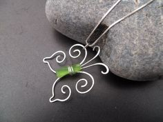 Sea glass jewelry  Lime green sea glass by FatCatsOnTheBeach, $45.00