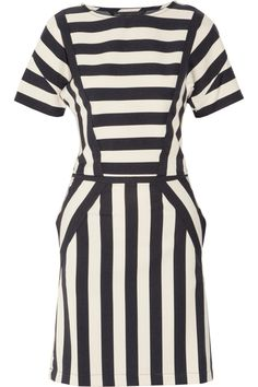 Marc by Marc Jacobs | Scooter striped stretch-twill dress | NET-A-PORTER.COM...It's on sale, hmmmm