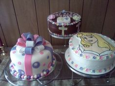First Communion and Sleeping Beauty Birthday Cakes