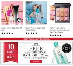 Free Skin So Soft Bath Oil with your $45 purchase plus free shipping! Expires: midnight 12/10/2014 - buy Avon online at http://eseagren.avonrepresentative.com