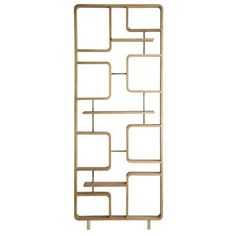 Retro Divider made of solid oak wood with elegant brass details by the brand red edition, now available in the home design shop! Living Room Partition Design, Room Partition Designs, Wall Partition, Partition Ideas, Feature Wall Design, Divider Screen, Modern Art Deco, Grill Design, Messing
