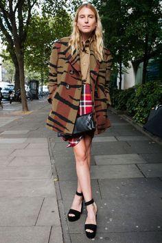 Dree Hemingway's London Fashion Week street style