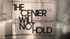 The Center Will Not Hold