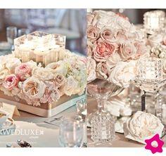 Mesa de casamento em tons pastéis