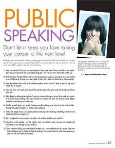 Public Speaking Tips.