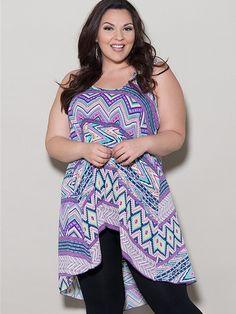 Jessie Plus Size Chiffon Tank – SexyPlus Clothing