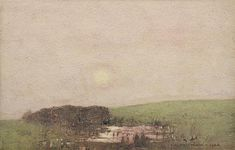 Lagoon at Sunset 1922 - John William Tristram