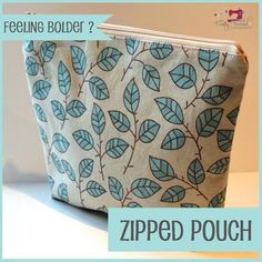 The Crafty Nomad Sewing Class Zipped Pouch