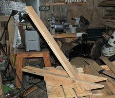 Pallet Breaker by NedB -- Homemade pallet breaker constructed from scrap red oak. http://www.homemadetools.net/homemade-pallet-breaker-4
