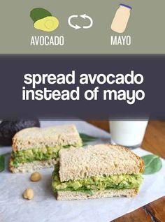 Make smart ingredient swaps. | 22 Simple Ways To Start Eating Healthier This Year