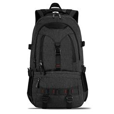 KAKA Terylene Fabric Backpack for 17Inch Laptops Black New *** See this great product. (This is an affiliate link)