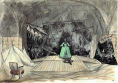 Roni Toren Stage Design רוני תורן - Le Grand Illusion - 2003 - Preliminary Sketch Set Design Theatre, Stage Design, Illusions, Sketches, Painting, Art, Drawings, Art Background, Set Design