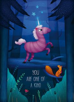 Unicorn - You are one of a kind - by Lea Vervoort www.leavervoort.nl