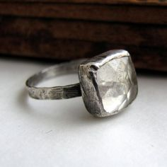 Sterling and quartz ring.