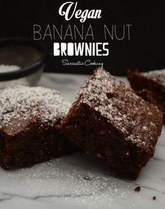 Vegan Banana Nut Brownies