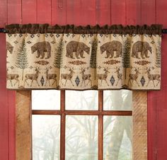 Buy Rustic Curtains Cabin Window Treatments And Lodge Style Several Styles To Choose From Including Moose Bear