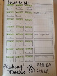 I made a simple bullet journal spread to track when how far and for how long I run. I also included a box for weekly thoughts/notes. Does anyone here do something similar? #C25K #everymomentcounts #running #run #health #fitness #GetRunning #workout #5k