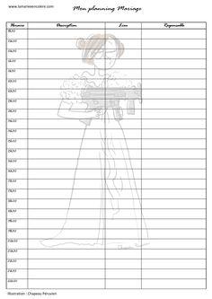 Planning pour la journée du mariage