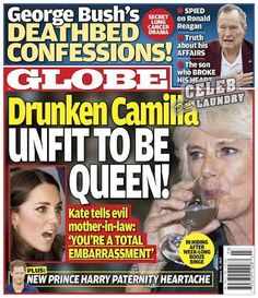 """GLOBE: Camilla Parker-Bowles Unfit To Be Queen - Kate Middleton Calls Her """"A Total Embarrassment"""" (PHOTO)"""