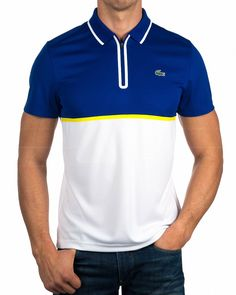 Polo Lacoste ® Sport Hombre - Azul Frances | ENVIO GRATIS Polo Shirt Style, Polo Shirt Outfits, Polo Shirt Design, Mens Polo T Shirts, Black Polo Shirt, Blue Polo Shirts, Polos Lacoste, Lacoste Sport, Cool Jackets For Men