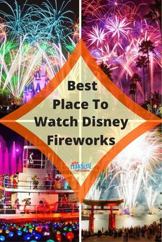 Walt Disney World has some of the most magical fireworks I've ever seen. I've compiled a detailed list of viewing locations for all the evening events at Walt Disney World. I want you to have the best possible viewing location for these magical events. Disney World Fireworks, Disney World 2017, Disney World Parks, Walt Disney World Vacations, Disney Resorts, Disneyland Trip, Disney Travel, Family Vacations, Disney World Tips And Tricks
