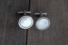 Check out this item in my Etsy shop https://www.etsy.com/listing/597766865/mother-of-pearl-cufflinks-wedding