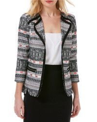 Laundry by shelli segal Geometric/Aztec Stripe Open-front | Lyst ... runs a little large... pERRY