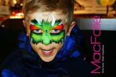 Face painting easy monster