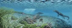 Eocene - Nearshore Habitat<br/> Saltwater crocodiles and sand tiger sharks shared this environment with extinct gastropods like <i>Gistoria</i>.
