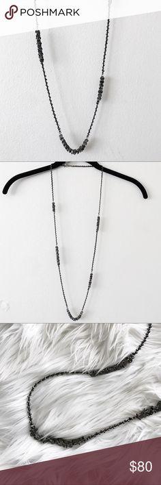 Chan Luu Gunmetal Disc Long Necklace Chan Luu • NWOT • gunmetal disc necklace • long layering piece • sterling silver Chan Luu Jewelry Necklaces
