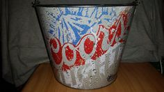 #Coors #Light 5 Quart #Ice #Beer #Metal #Bucket New Unused Many Uses #Galvanized #breweriana
