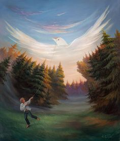 Ukrainian artist. Олег Шуплякг. Запуск повітряного змія / Oleg Shuplyak. Launch a kite