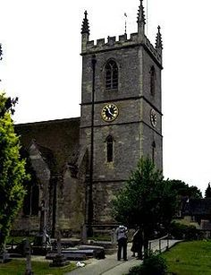 Woodstock near Oxford, England - Bladon church on the edge of the Blenheim estate. Burial place of Sir Winston Churchill. Woodstock, England