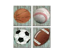 Personalized Baseball Art Sports Nursery Art por RockinCanvas