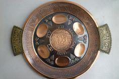 Vintage Judaica Passover copper and brass 13 inch by shainkeit, $40.00