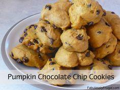 Pumpkin Chocolate Chip Cookies Recipe. http://fabulesslyfrugal.com/?p=153315