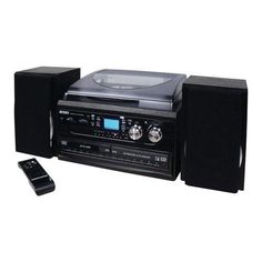 Jensen JTA980B J3-Speed Turntable with 2 CD, AM/FM and Cassette...