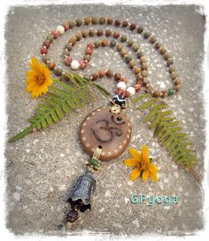 MEDITATION Bell necklace OM necklace Earthy jewelry by GPyoga